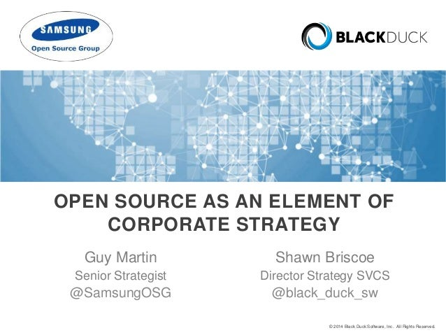 Open Source As An Element Of Corporate Strategy