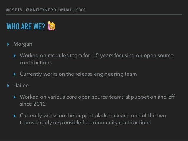 Enabling Open Source Contributors at Puppet Slide 2