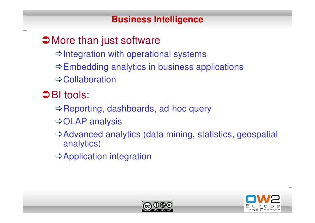 Webinar Open Source Business Intelligence Intro