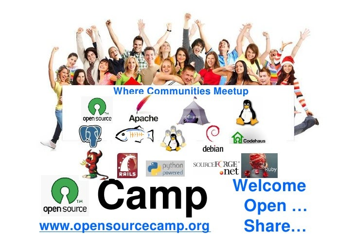 Where Communities Meetup           Welcome                          Welcome       Camp                Open …              ...