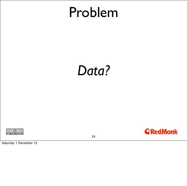 Problem                          Data?                            24Saturday 1 December 12