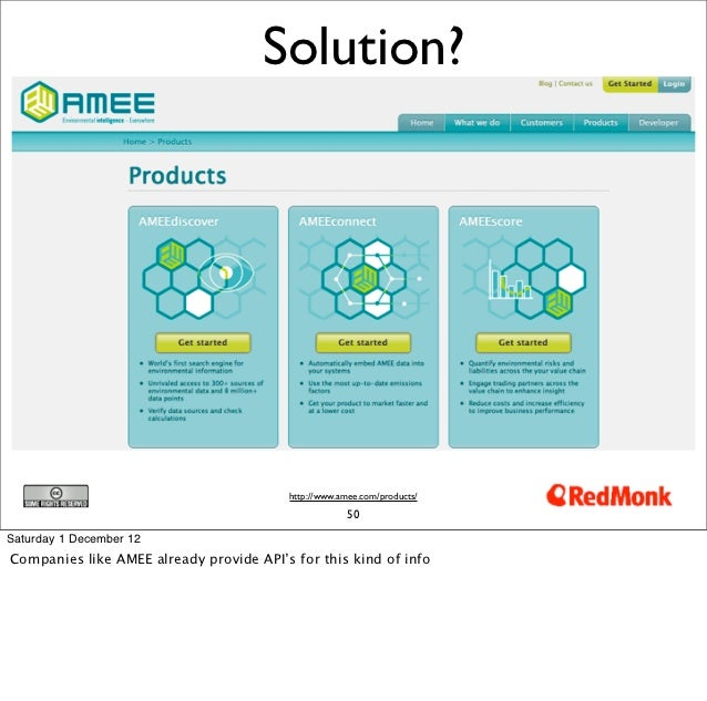 Solution?                                         http://www.amee.com/products/                                           ...