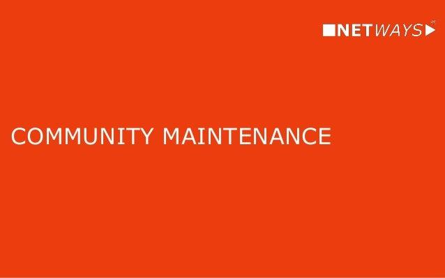COMMUNITY MAINTENANCE Methods