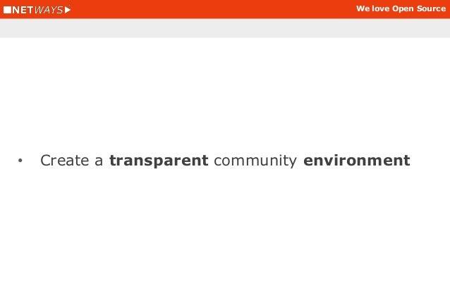 We love Open Source • Measure progress and note community members