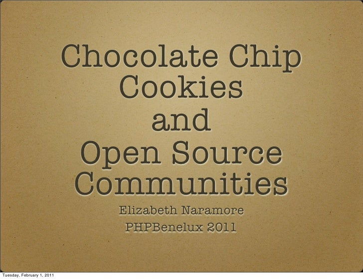 Chocolate Chip                               Cookies                                 and                             Open ...