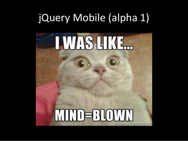 jQuery Mobile (alpha 1)