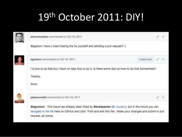 19th October 2011: DIY!