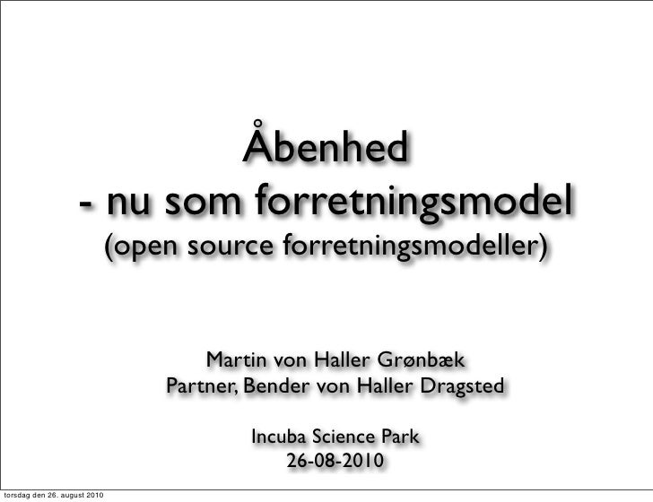 Open source forretningsmodeller (26-08-2010)