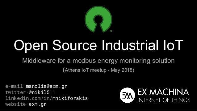 Open source industrial IoT