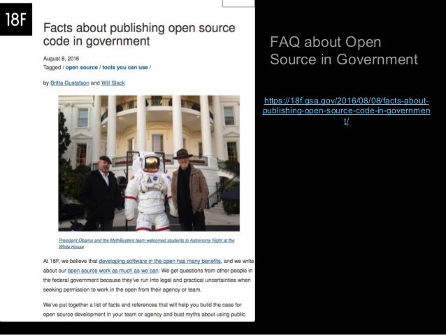 Open source in government