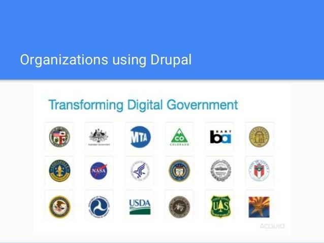 Organizations using Drupal