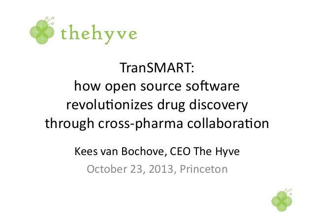 TranSMART:   how  open  source  so3ware   revolu6onizes  drug  discovery   through  cross-‐pharma  co...