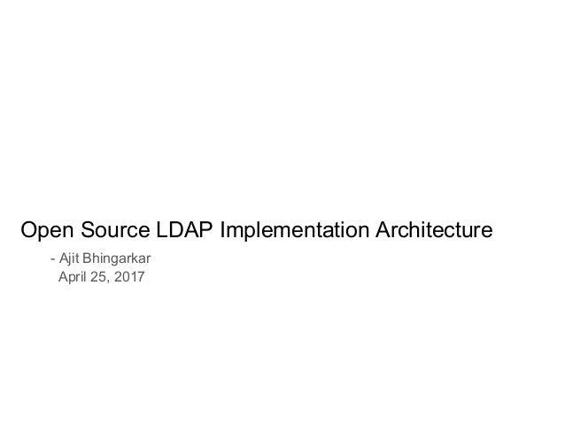 Open source LDAP implementation Architecture