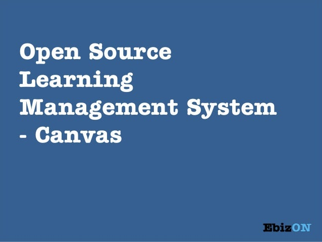 Open Source Learning Management System - Canvas