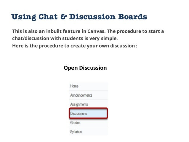 Create Discussion View Discussion