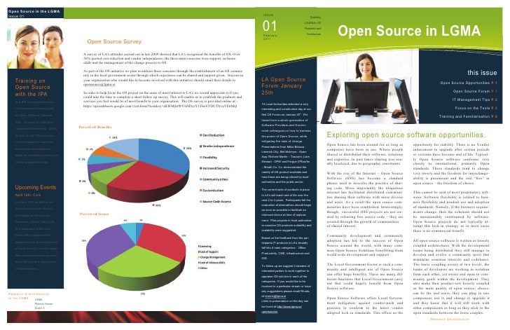 Open Source in the LGMAIssue 01                                                                                           ...