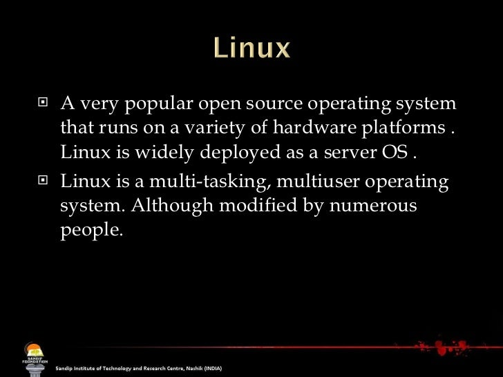 Open source operating systems