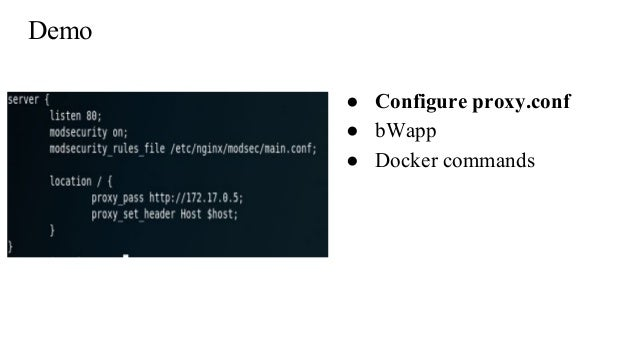 Opensource pnp container based waf