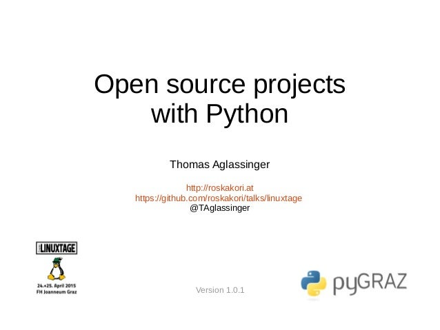 Open source projects with python