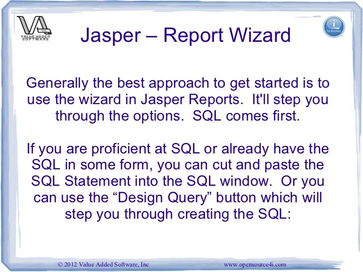 30 jasper report wizardgenerally - Sql Report Writing