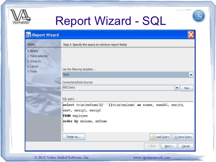 Sql report writer