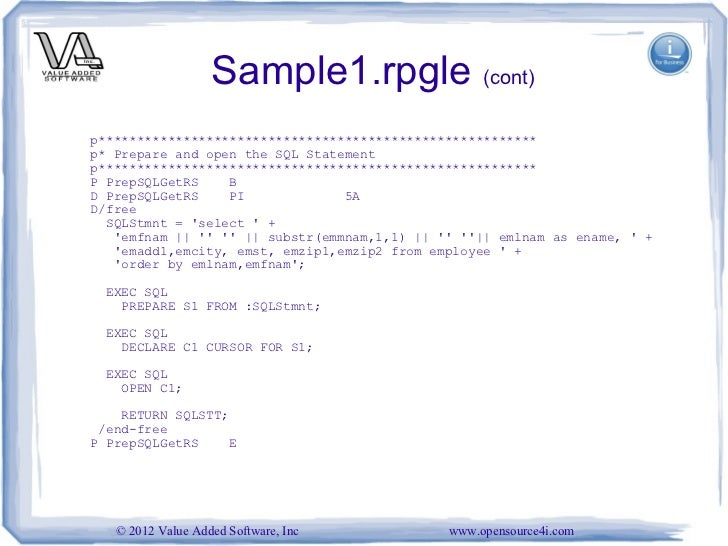 open source report writing tools for ibm i vienna 2012 - Sql Report Writing