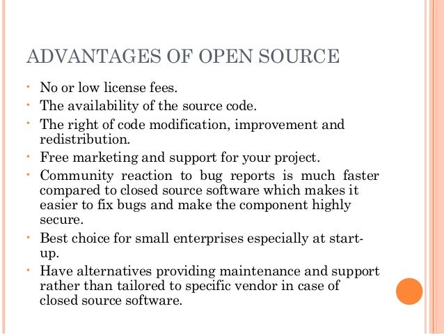 Open source software part 1 Open source programs