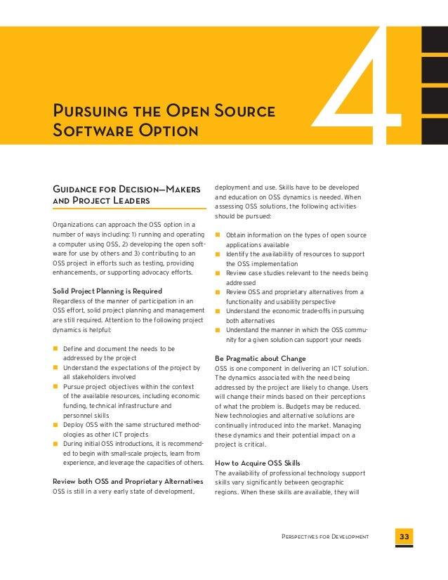 Open Source Software: Perspectives for Development (World Bank & Paul Dravis)