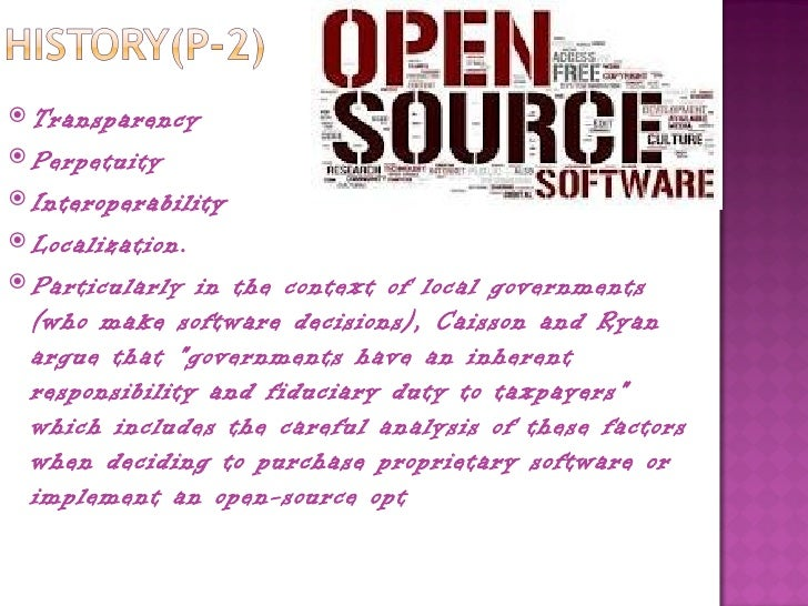 Open source software vs proprietary software Open source programs