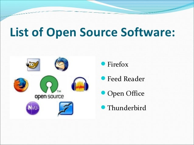 Open source technology software Open source programs