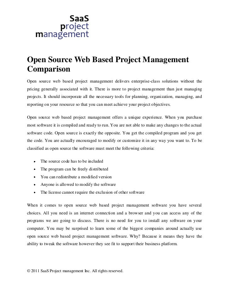 Web based project management