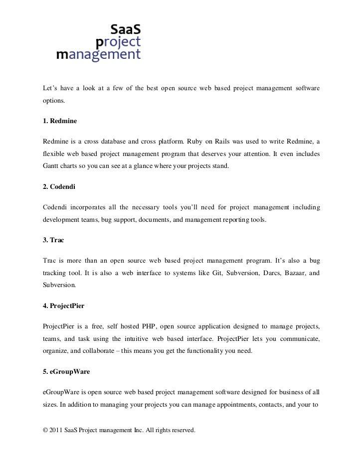 Open Source Web Based Project Management Comparison