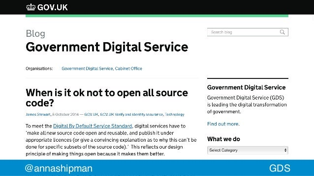 Open sourcing government