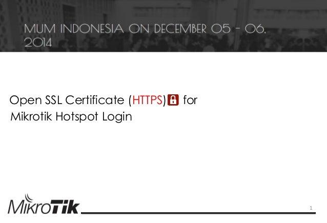 Open ssl certificate (https) for hotspot mikrotik