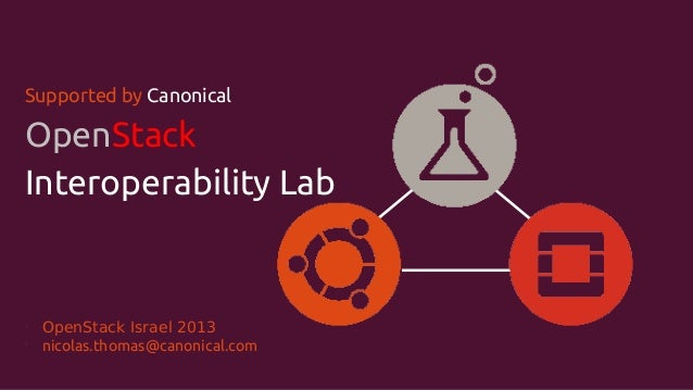 Supported by Canonical  OpenStack Interoperability Lab  l l  OpenStack Israel 2013 nicolas.thomas@canonical.com