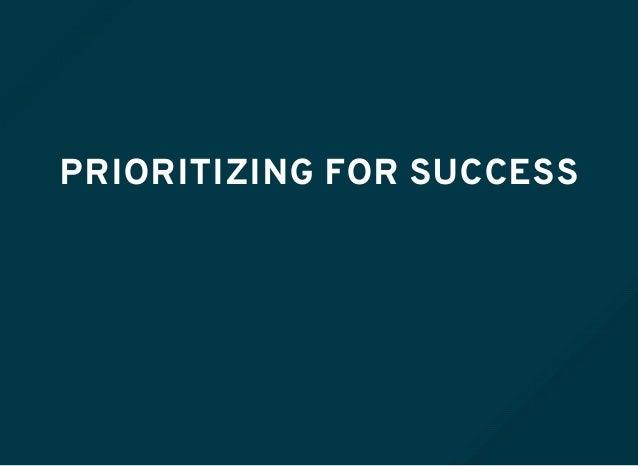 PRIORITIZING FOR SUCCESS