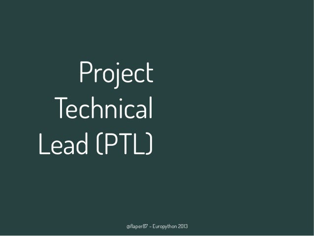 @flaper87 – Europython 2013 Project Technical Lead (PTL)