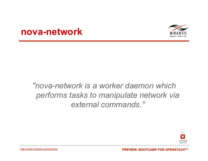"""nova-network          """"nova-network is a worker daemon which           performs tasks to manipulate network via           ..."""