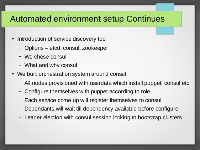 Openstack devops challenges for Consul bootstrap