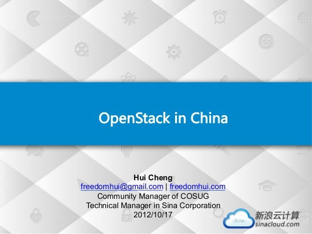 OpenStack in China ...