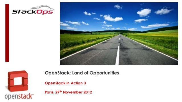 OpenStack: Land of OpportunitiesOpenStack in Action 3Paris, 29th November 2012