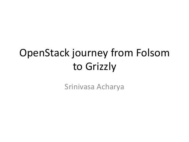 OpenStack journey from Folsom          to Grizzly        Srinivasa Acharya