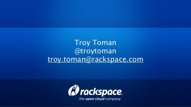 Troy Toman Keynote at OpenStack Summit - October 2012