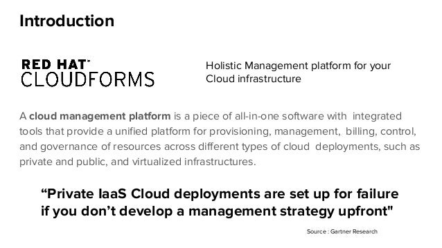 Introduction A cloud management platform is a piece of all-in-one software with integrated tools that provide a unified pl...