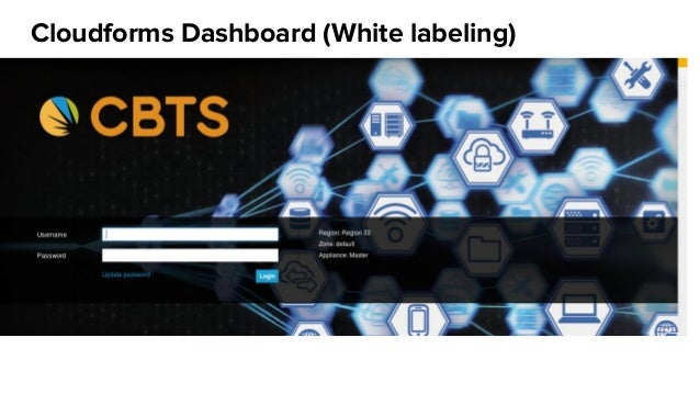 Cloudforms Dashboard (White labeling)