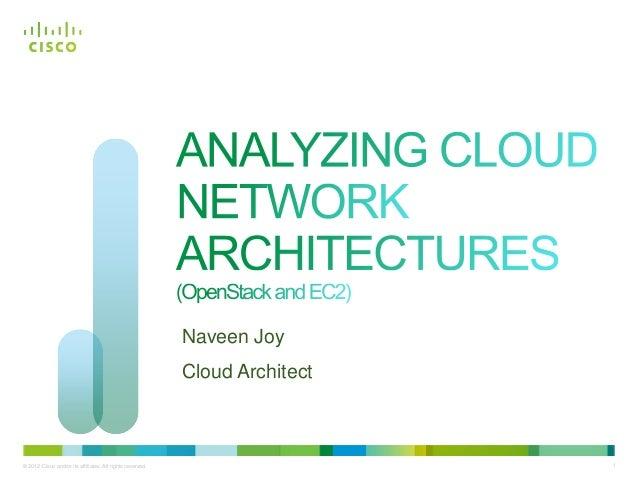 Naveen Joy                                                           Cloud Architect© 2012 Cisco and/or its affiliates. Al...