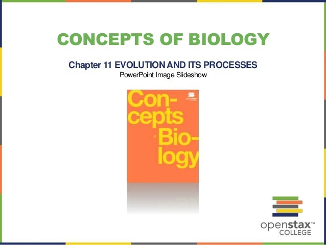 CONCEPTS OF BIOLOGY  Chapter 11 EVOLUTION AND ITS PROCESSES  PowerPoint Image Slideshow