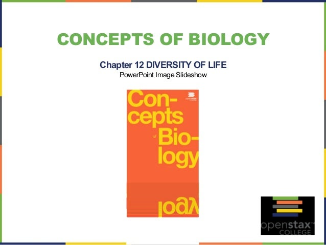 CONCEPTS OF BIOLOGY  Chapter 12 DIVERSITY OF LIFE  PowerPoint Image Slideshow