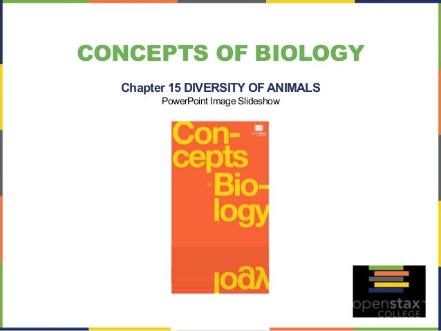 CONCEPTS OF BIOLOGY  Chapter 15 DIVERSITY OF ANIMALS  PowerPoint Image Slideshow