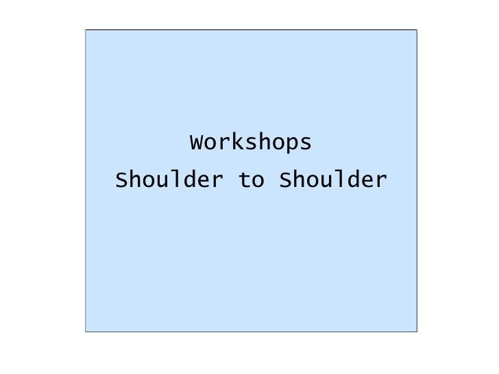 Workshops Shoulder to Shoulder